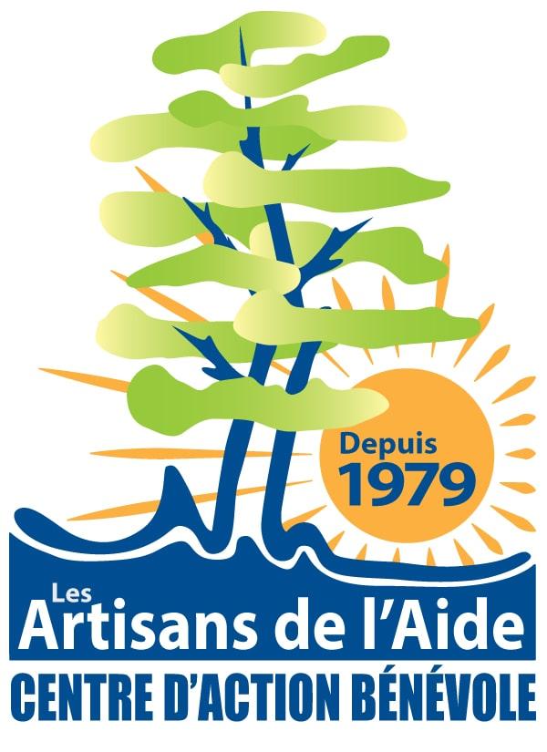 Le logo du Centre d'action bénévole: Les Artisans de l'Aide